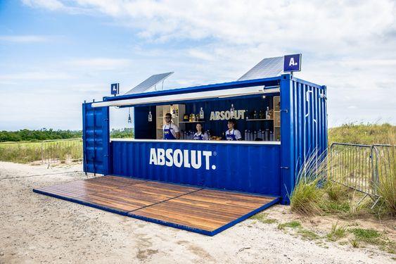 Container Bar Sustentavel Absolut Container Bar Mobiliario De Bar Fachadas Comerciais