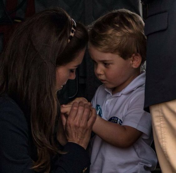 Princess Catherine and her son, Prince George... So sweet! Kate & George... Mother & Son: