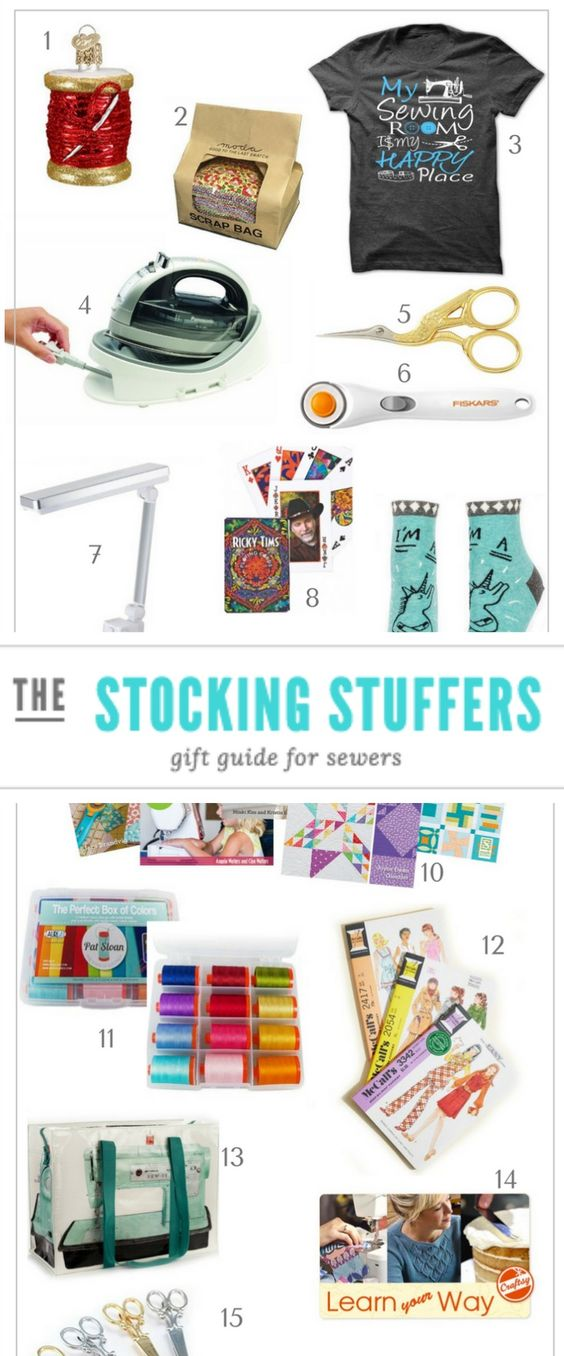Give the perfect gift to your stitching friends this season with these sewing inspired stocking stuffers that won't break the bank.