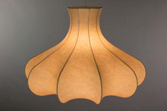 alte Cocoon Pendel Lampe Decken Leuchte Castiglioni Style Ära 60er 70er Jahre | eBay