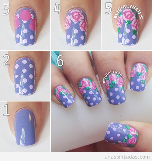 Flores en tus uñas paso a paso Bellas!!!