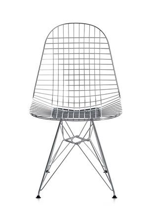 Wire chair eames and wire on pinterest for Chaise wire eames