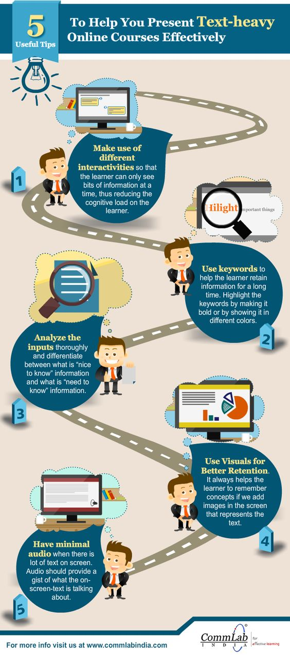 E-learning Design – 5 Tips To Deal With Text-Heavy Learning Content [Infographic]