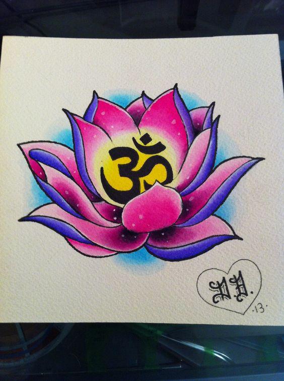 Lotus and om.  www.instagram.com/blankenstein83  www.facebook.com/blankensteinart