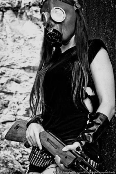 gas mask girl | Tumblr