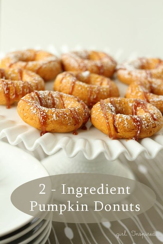 Two Ingredient Pumpkin Donuts - easy, healthy desserts or breakfast ...