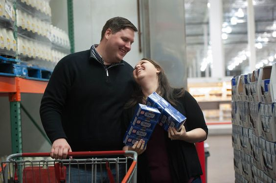 Their photographer, Emmerlee Sherman, was equally excited about the location, and managed to make the busy store look like it belonged just to the two lovebirds.   This Couple Loves Costco So Much They Took Their Engagement Photos There