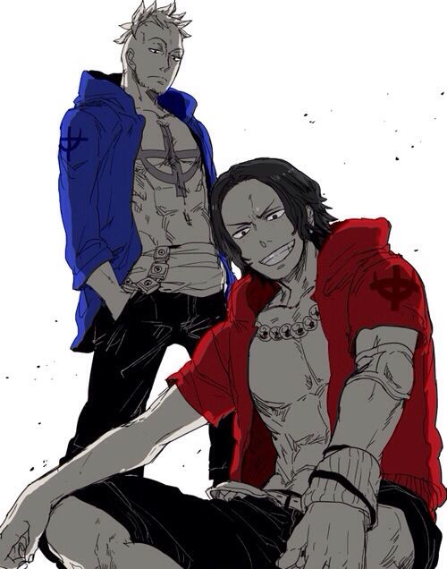 Marco and Ace; One Piece