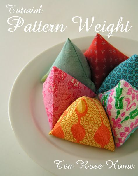 Tea Rose Home: Tutorial~ Pattern Weight with Free PDF Pattern!  - keep things in place so you can cut our your hand dyed fabric with confidence!