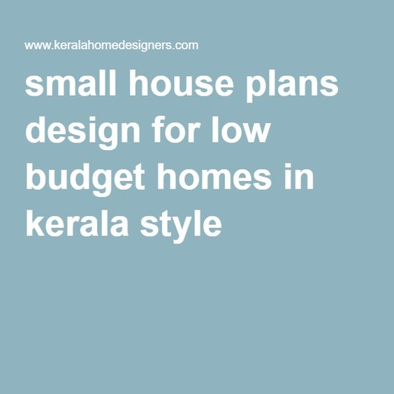 Small house plans design for low budget homes in kerala for Kerala style low budget home plans