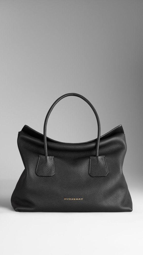 Medium Leather Tote Bag | Burberry