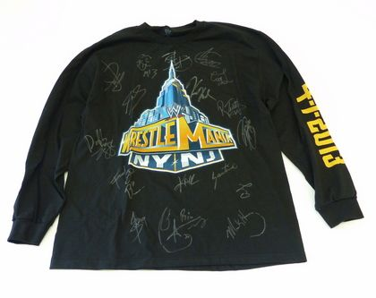 Long Sleeve Wrestlemania 29 Shirt Autographed by #WWE Stars The Miz, John Cena, Sheamus, Randy Orton and Many More!