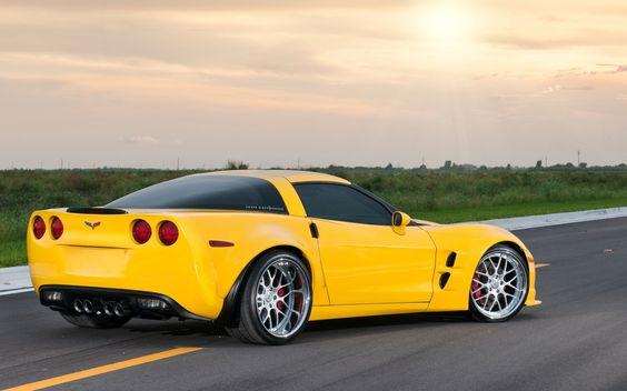 My Husbands Car Chevrolet Corvette Yellow Corvette Corvette