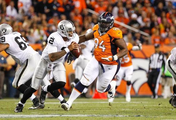Eat Him Alive! Pryor runs for his life! He got a concussion near the end of Broncos vs. Raiders: Shots of the Game Monday Night Sep 23, 2013.The the next day, he didn't even remember the game.