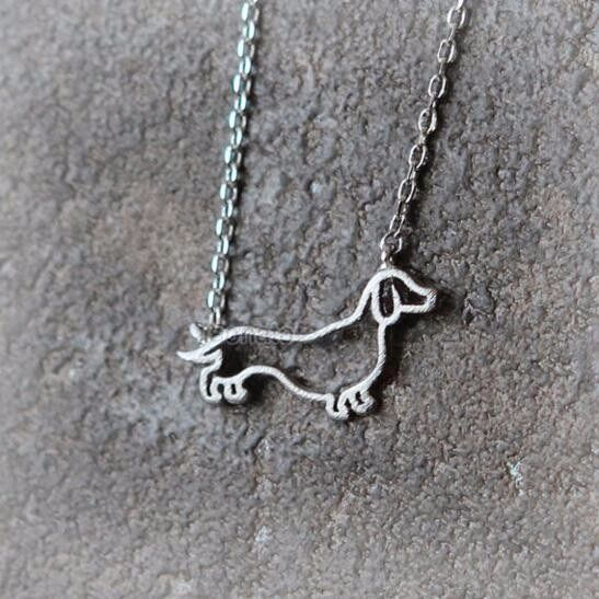 Doxie Head Shot Sterling Silver Solid Back Dachshund Dog Necklace Your Pet as a Pendant .