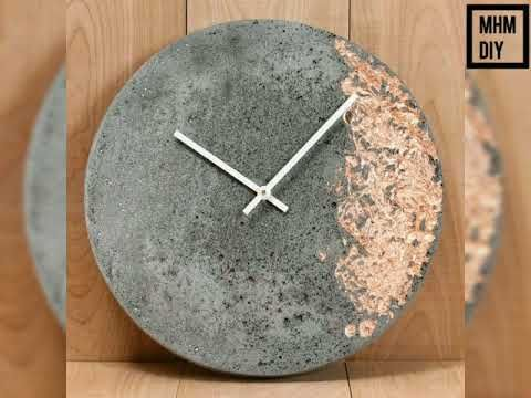 Top 10 Ideas Clock Making Ideas Diy Mhm Diy Youtube Diy Clock Wall Concrete Crafts Concrete Diy