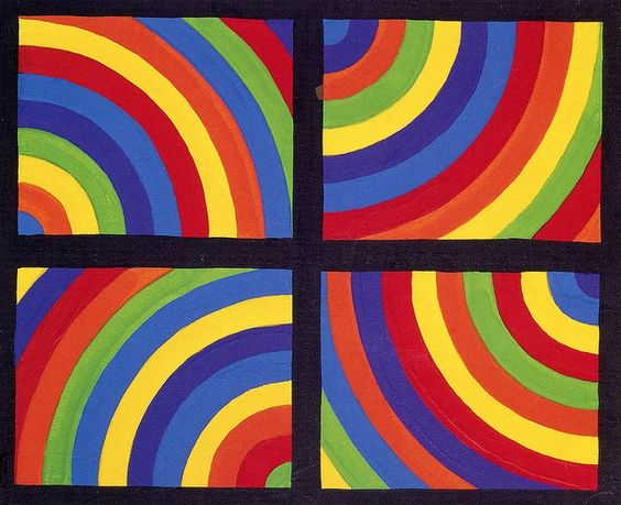 color As in Four Directions, Sol Lewitt.
