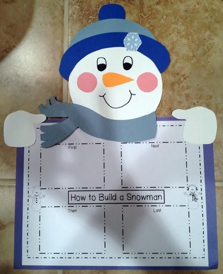 how to build a snowman procedural writing activities
