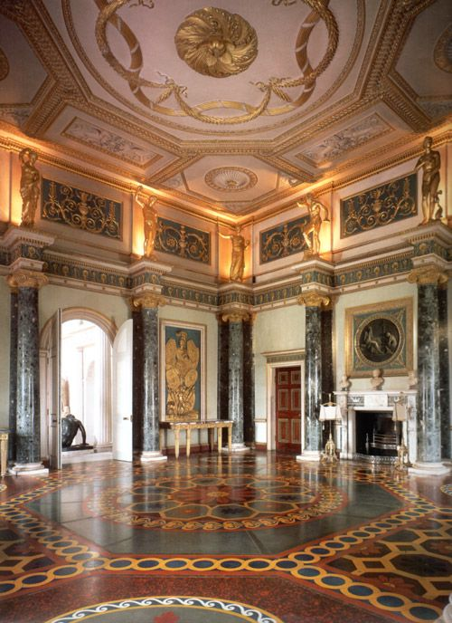 Ionic Columns on display at Syon House, Ante Room. Designed by Robert Adam (1761).
