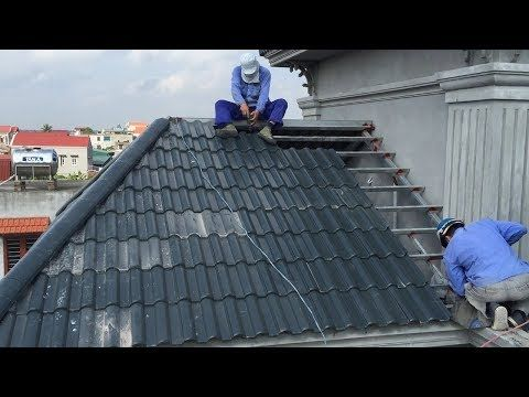 Construction Craft Method Install Roof With Roofing Tiles On Fixed Frame Youtube Roof Installation Construction Crafts Roofing