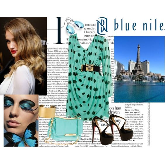 """""""Love at First Sight, Sponsored by Blue Nile"""" by marthavk on Polyvore"""