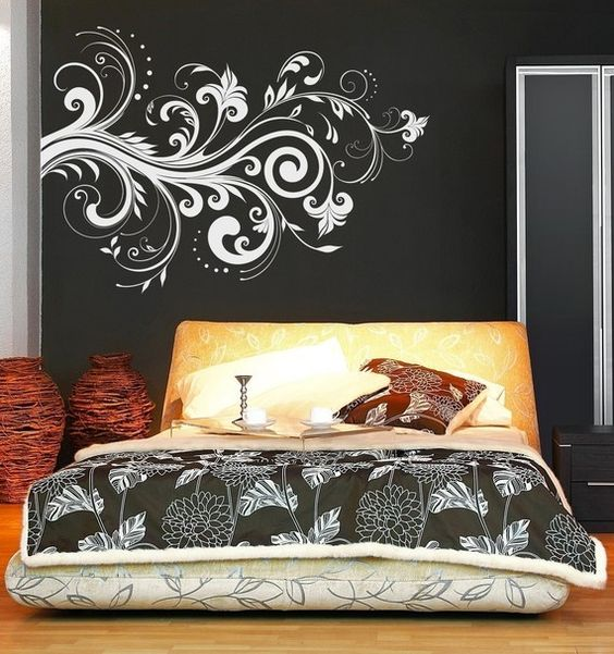 Vinyl Wall Sticker. color scheme, bed idea.