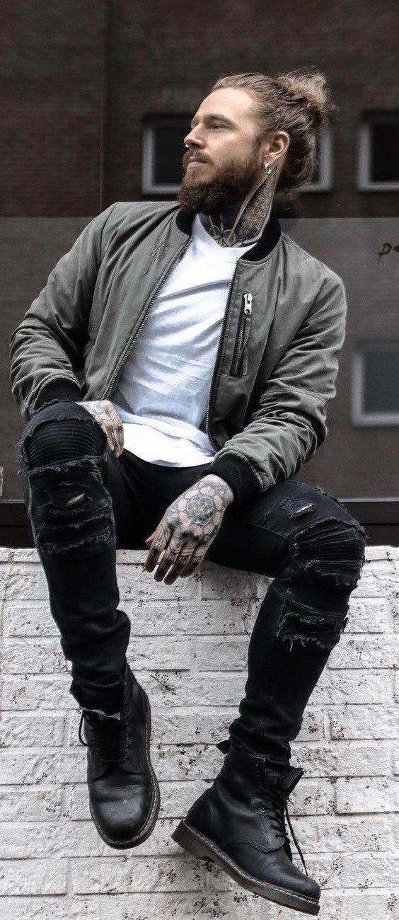 Pin von Christian auf mode in 2020 | Lederjacke männer