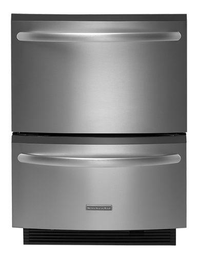 KitchenAid Dishwashers Double Drawer Double-Drawer Dishwasher | ProWash™ Bar | Whisper Quiet® Sound Insulation System | Architect® Series II Double Drawer Dishwasher 5 Cycles/3 Cycle Options Architect® Series II Base Model: KUDH03DTSS