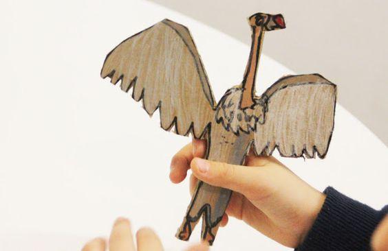 Cardboard painted animals - mama recicla
