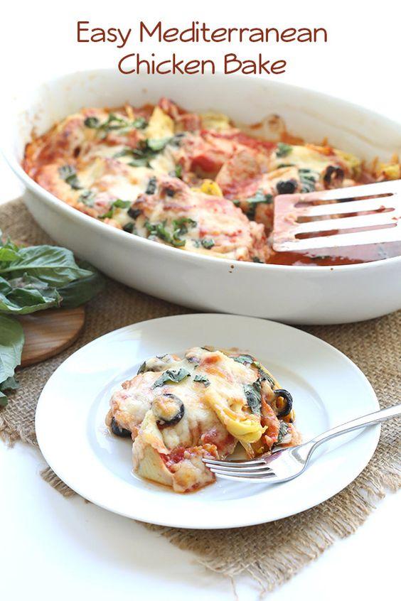 Easy Mediterranean Chicken Bake Recipe House Olives