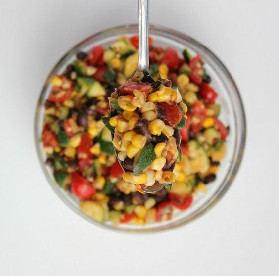 Fresh Summer Zucchini, Corn and Black Bean Salad Recipe