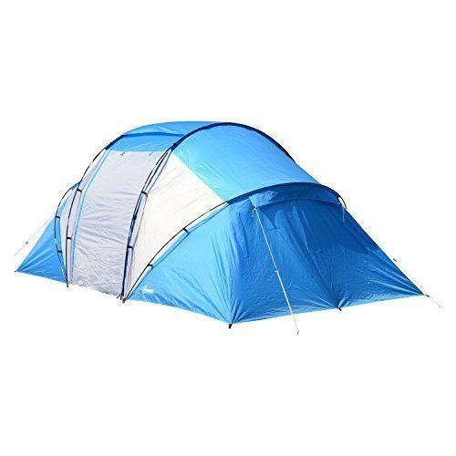 Outsunny Campingzelt Familienzelt Tunnelzelt Mit 2 Schl Familienzelt Familien Zelt Zelten
