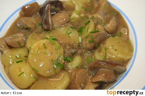 Staročeská bramborová omáčka s hříbky