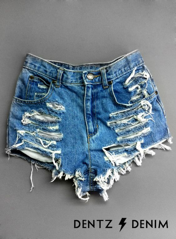 Plus thru Petite Size High Waisted Denim Shorts  by DentzDenim