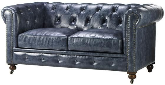 Gordon Tufted Love Seat Also Sofa Chair And Ottoman Available Blue Brown Black Love This