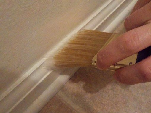 How To Paint A Room Without Tape Rock Solid Rustic Room Paint Painting Trim Painting Baseboards