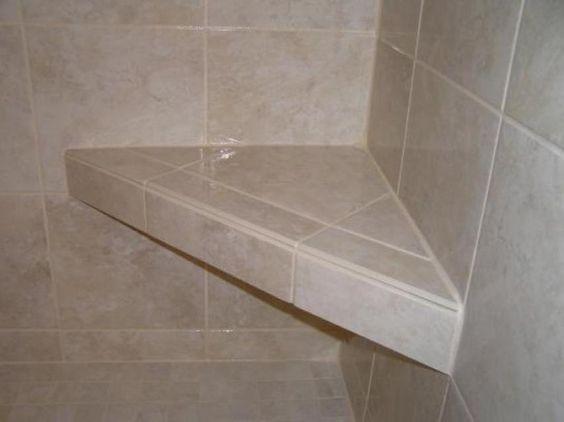 Suspended Corner Shower Seat Master Bathroom Ideas Pinterest Showers Woods And Corner Showers
