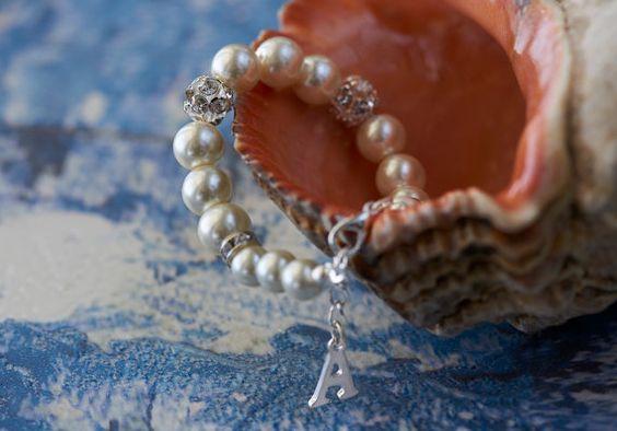 Personalized bridesmaid bracelet bridesmaid gift by asteriasbridal