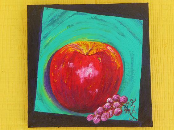 An Apple on Canvas