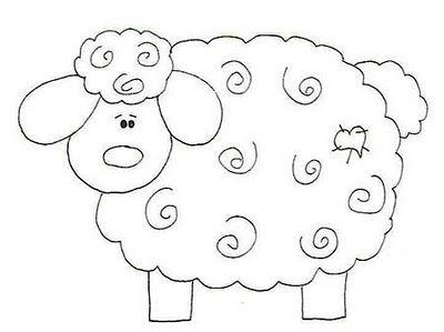 Artesanato.Revistas, Moldes e Dicas: Riscos de ovelhas e coelhos