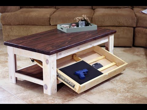 Easy Diy Coffee Table With Hidden Drawer Build Woodworking Diy