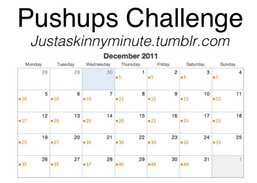 Pushups challenge! I'm terrible at pushups so let's see if this helps. :)
