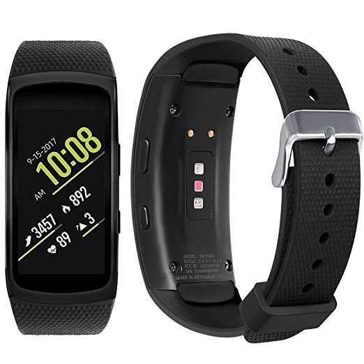 Samsung Gear Fit 2 Pro Fit 2 Band Nahai Silicone Replacement Strap For Samsung Gear Fit2 And Fit2 Pro Black 5 5 7 5 Review Wearable Wristband Smart Watch