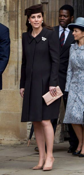 Catherine Duchess of Cambridge attends Easter Service at St George's Chapel on April 1 2018 in Windsor England