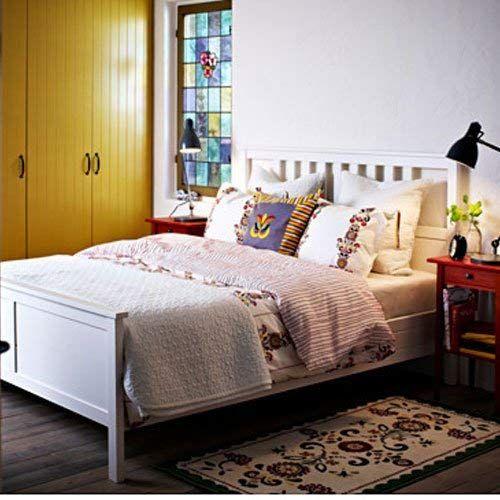 Ikea Hemnes Full Bed Frame White Wood Review Ikea Bed Frames