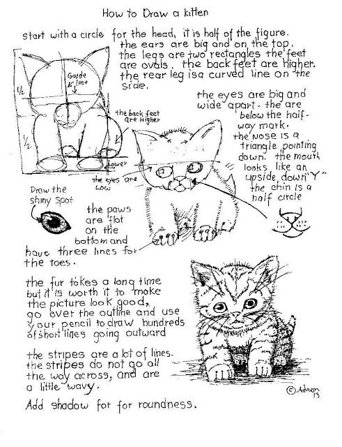 How to Draw Worksheets for The Young Artist: Animals | Art and ...