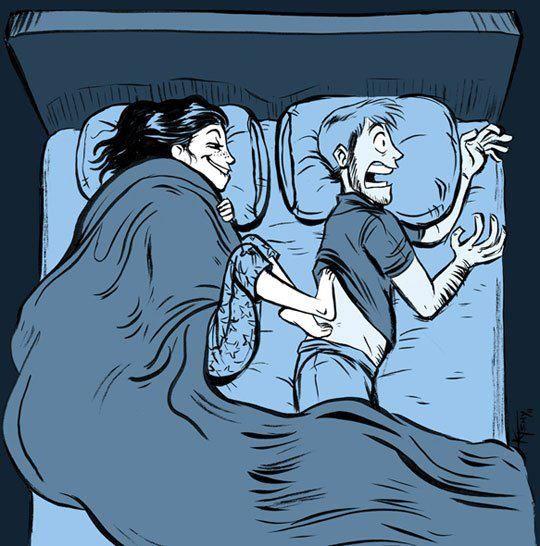 Girls have cold feet. Always.