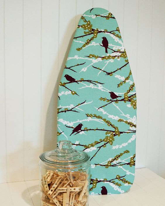 Tabletop Ironing Board Cover - Joel Dewberry's Aviary 2 Sparrows Plum via Etsy. @Cheryl McCook can we make one of these?