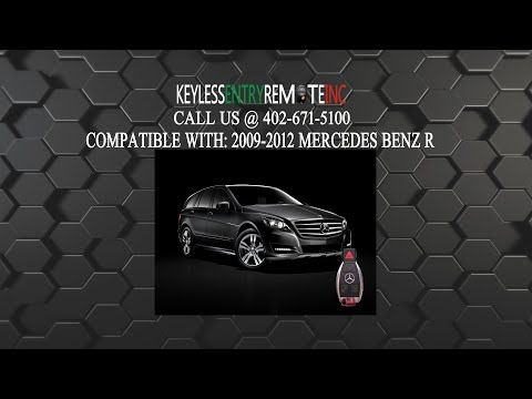 How To Change A Mercedes Benz R350 Key Fob Battery 2007 2012