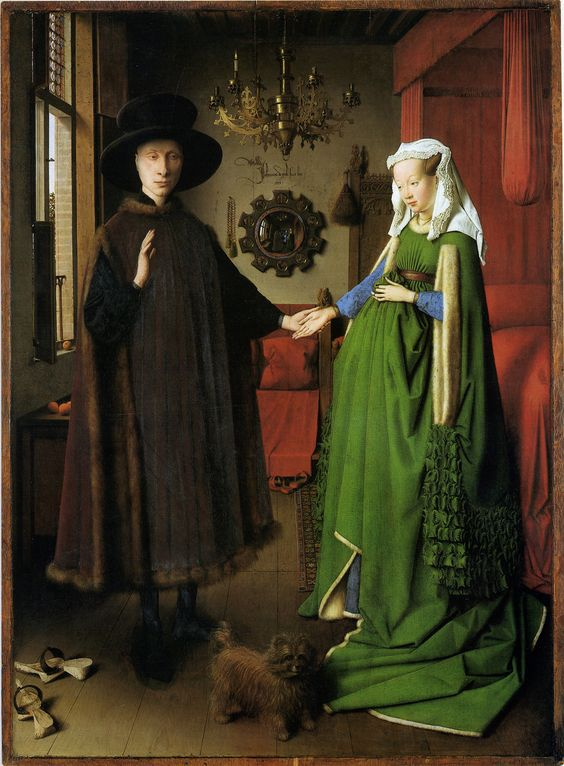 Jan Van Eyck. The Arnolfini Wedding Portrait. 1434. The National Gallery, London.: